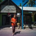 Lomography, New Russar+ Lens, Sandy Beach, Nusa Lembongan, Sea, Leica M-E, woman, shop keeper