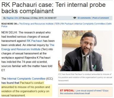 Pachauri_accuser_vindicated