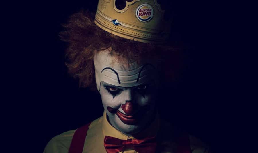 Burger King is Giving Free Whoppers to Creepy Clowns this Halloween