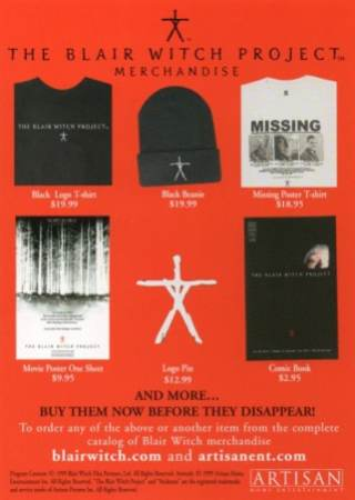 blair witch project merchandise ad2