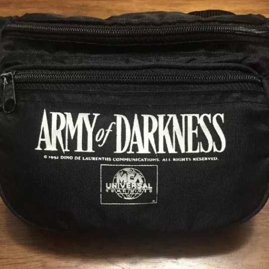 army of darkness collector's crypt horror movie promotional merchandise fanny pack