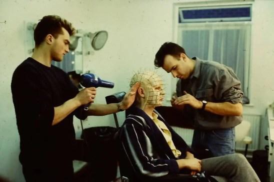 Pinhead in makeup - nightmare on film street - making a monster