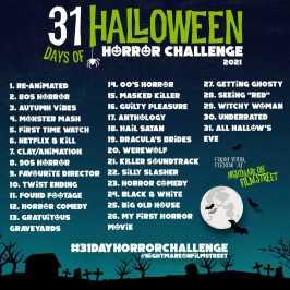 31 day horror movie challenge halloween nightmare on film street 2021 blue