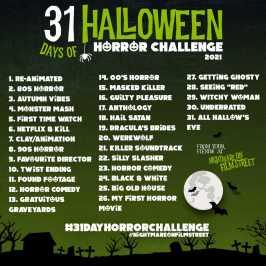 31 day horror movie challenge halloween nightmare on film street 2021 green