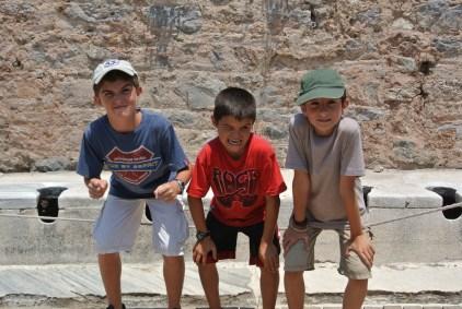 A quick trip to the latrine, Ephesus, Turkey