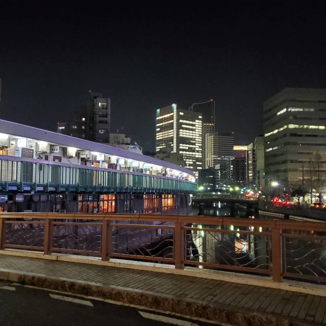 昨夜(1/11)20時の都橋商店街の画像