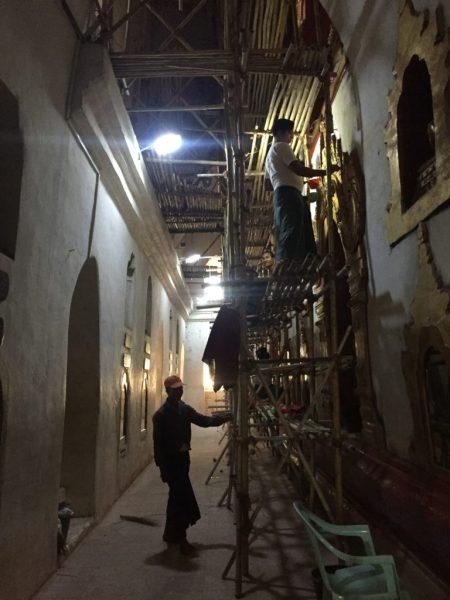 Restoration work, Ananda Temple (Phaya), Bagan, Myanmar (Burma)