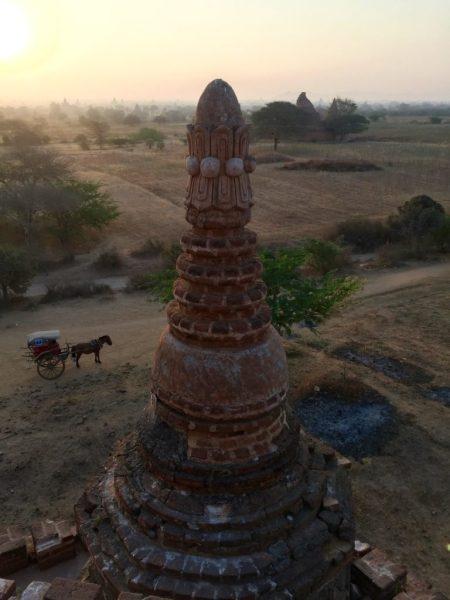 Horse cart, Bulethi Temple, Bagan, Myanmar (Burma)