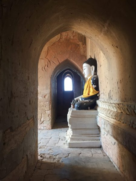 Side Buddha photo, Bagan, Myanmar (Burma)