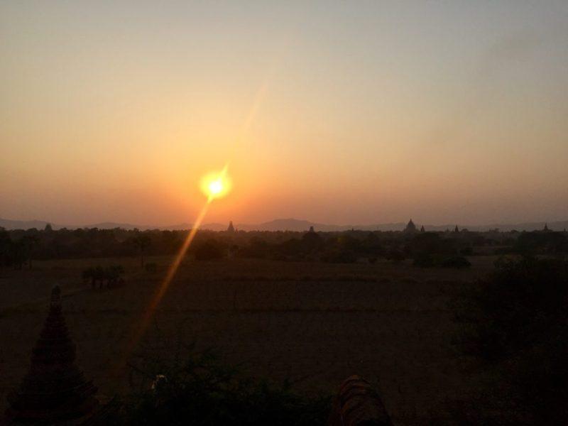 Sunset from North Guni (Myauk Guni), Bagan, Myanmar (Burma)