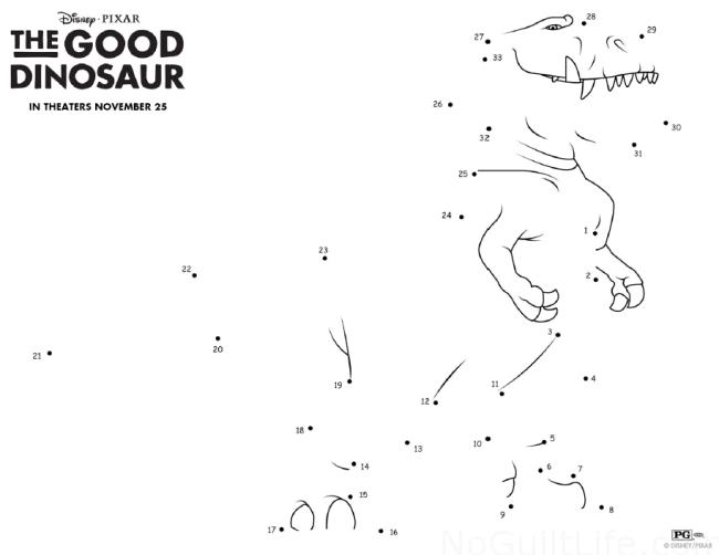 New Good Dinosaur Activity Sheets and Pumpkin Stencil