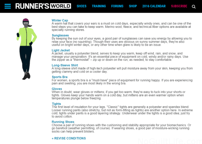 Runners World What to Wear in the Winter While Running