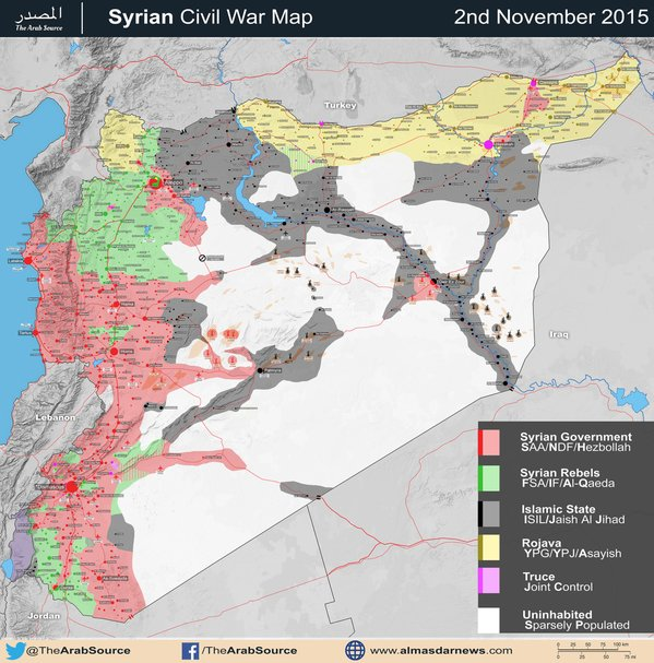 mapa guerra sirio