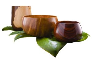 Hawaiian wood bowls and turned local woodwork