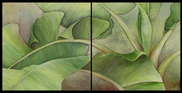 Patricia Field diptych, Banana Leaves