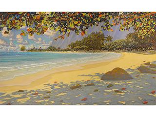 """Sunlight Ka'a'awa 48"""" x 80"""" by Russell Lowrey"""