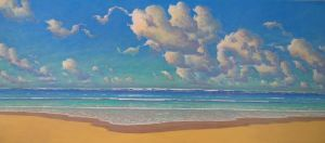 "Russell Lowrey New Seascape 80"" x 36"""