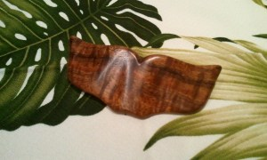 Whale Tail Hawaiian Koa Barrette