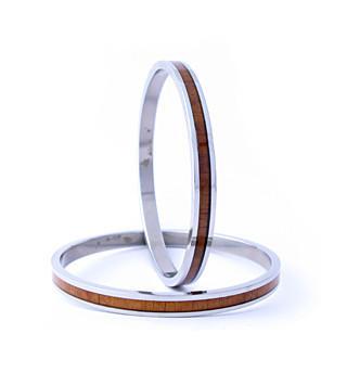 Koa wood bangle bracelet
