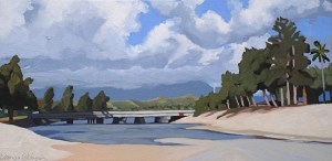 The Bridge Across Brenda Cablayan original 12 x 24