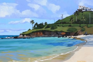 Brenda Cablayan original painting The Beach at Alala Point 24 x 36