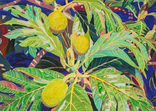 'Three yellow fruit' watercolor by Fabienne Blanc, Giclée Print, custom sizes