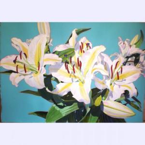 Fabienne Blanc Original Watercolor Cymbidium Orchids 40 X 29