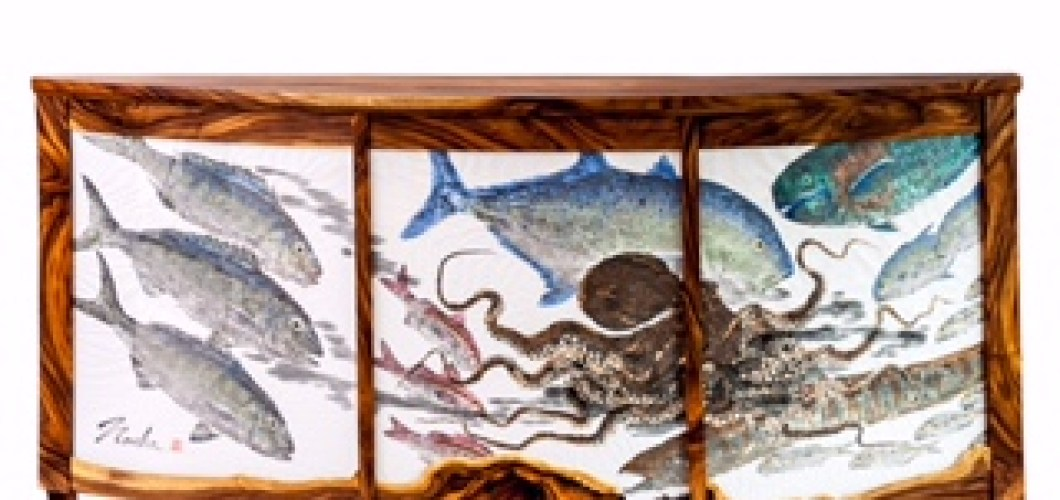 Gyotaku hall table