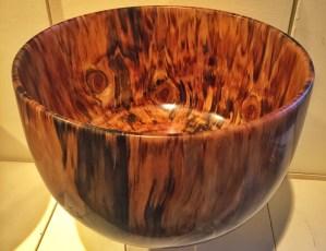 Carl Carl Sherry Cook Island Pine bowl 12 x 8.25 x 8.25