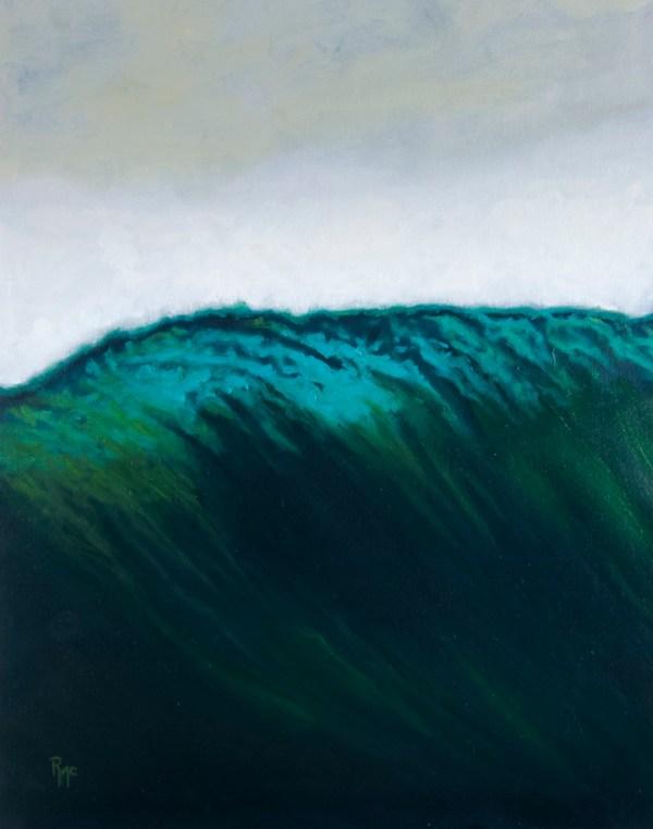 Refraction original oil on wood panel Robert McGuire