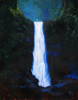 Wailele original oil painting on wood panel Robert McGuire