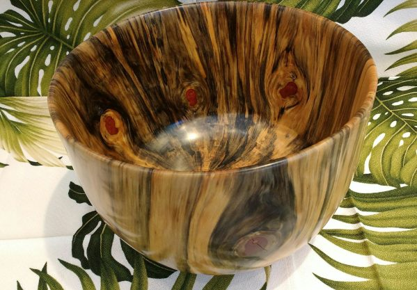 "Carl Sherry Norfolk Island Pine bowl 10x10x7"""