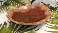 Carl Sherry Red Mallee Burl natural edge bowl