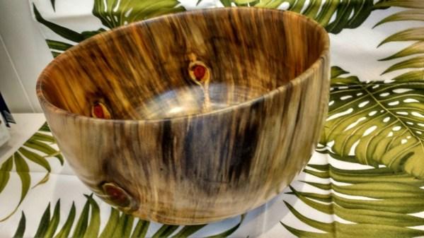 "Carl Sherry Norfolk Island Pine bowl 12x12x8"""
