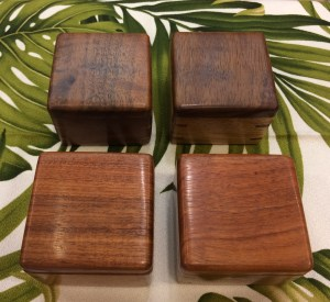 Honolulu Woodworking Designs Koa Boxes 3x3x2.5""
