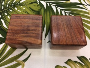 Honolulu Woodworking Designs Koa Boxes 4x4x2.25""