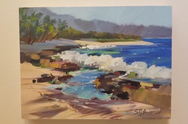 """North Shore Shorebreak by Susie Anderson 9"""" x 12"""""""