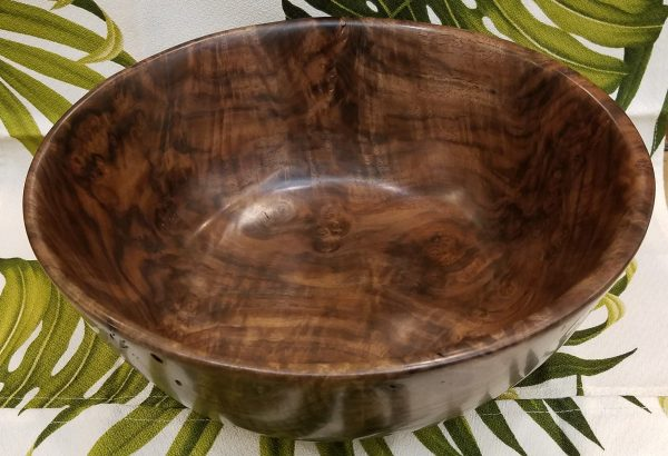 """Carl Sherry Claro Walnut Bowl 10.75"""" x 4.5"""""""