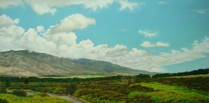 Waikapu Reverie original soft pastel by Gregory Pai