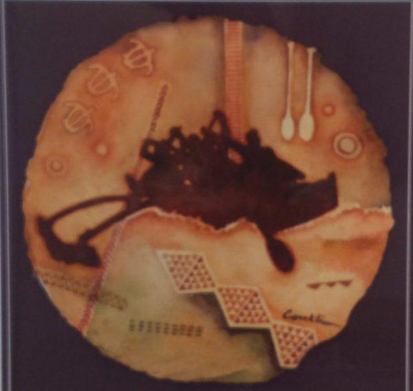 "Wa'a Kahiko original watercolor by Cindy Conklin 20"" x 20"""