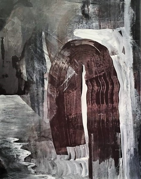 Untitled original mixed media on canvas by Alina Kawai