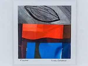 Floater original monotype collage by Linda Spadaro