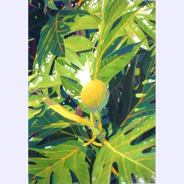 Fabienne Blanc original watercolor Du Pain Sur La Planche 30 x 14 1350.