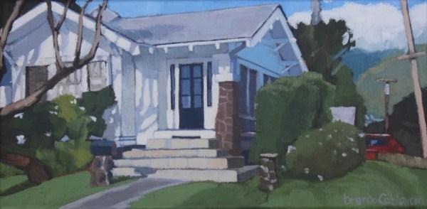 Brenda Cablayan original painting, House on the Corner 6 x 12