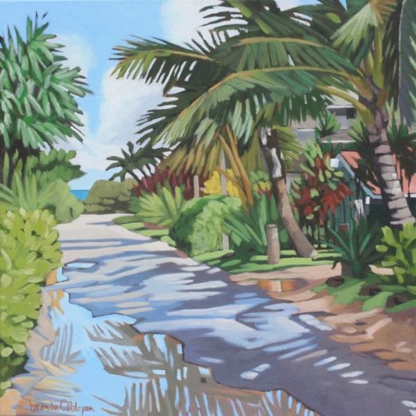 Brenda Cablayan original painting, Rain Puddles 20 x 20