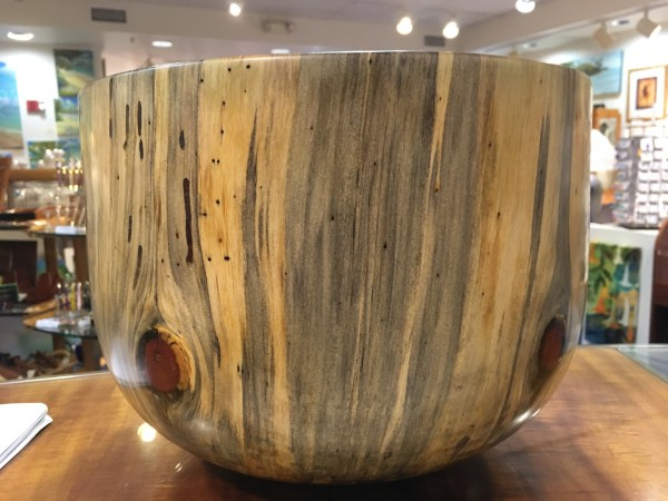 Carl Sherry Norfolk Pine bowl 12 x 12 x 9