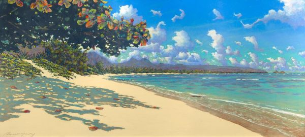 Russell Lowrey Windward Beach giclee print 36 x 74