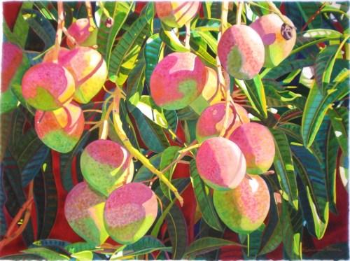 'La Vie en Rose' watercolor by Fabienne Blanc, Giclée Print, custom sizes