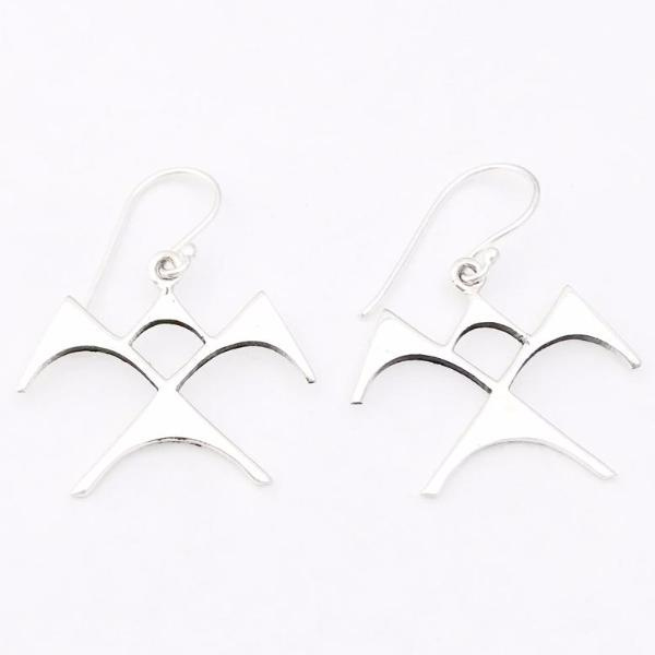 Paradisus Sonny Ching 'Iwa Ne'ekau sterling silver earrings large