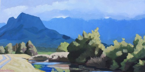Under Olomana, painting by Brenda Cablayan 12 x 24